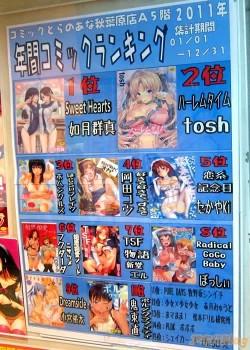 Nejprodávanější ero-mangy roku 2011