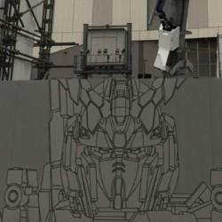 Nový Gundam v Odaibě se začíná rýsovat
