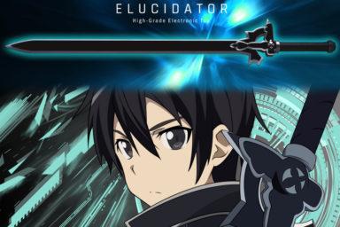 Kiritův meč Elucidator v životní velikosti
